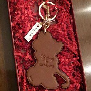 Coach Accessories - Coach x Disney Minnie Mouse keyfob Keychain